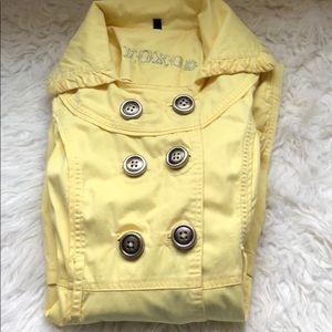 xoxo yellow rain jacket